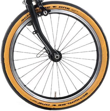 Brompton Schwalbe One Tan Wall Tyre 35-349